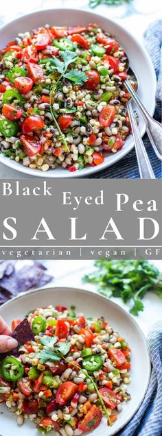 Black Eyed Pea Salad Recipe is make ahead ready and packed with summer fresh veggies! Share this hearty salad as a side, lunch or appetizer; it's perfect as a light summer dinner. This recipe is vegetarian, vegan and gluten free. #salad #vegetarian #blackeyedpeasalad #vegan | vanillaandbean.com @vanillaandbean