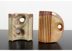Ivory & Brown Vases by Giovanni Bertoncello, 1969, Set of 2 6