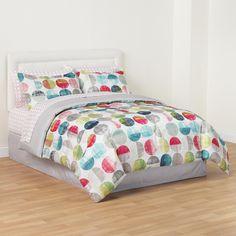 8 Piece Polka Dots Complete Comforter Bedding Set Bed in a Bag