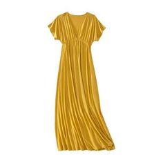 Dress: Mossimo Womens Kimono Sleeve Maxi Dress: Mineral Yellow $22.00