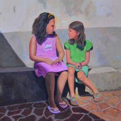 Cousins - oil on canvas - 69x69 cm