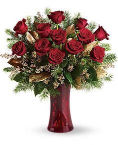 A Christmas Dozen red #roses