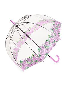 Shop Fulton Clear Printed Walking Umbrella-roses from stores. Fulton, Walking, Butterfly, Bird, Prints, Roses, Collection, Color, Shop