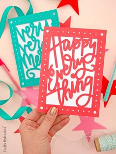 If you've got friends and family with birthdays in December then Crafts Unleashed has the free printable birthday card for you. Print their Happy Everything card and tick off multiple greetings at once! They also have a free Christmas card download too.