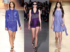 ViolaDa sinistra: le collezioni primavera estate 2015 di Blumarine, Costume National, Alberta Ferretti. Foto-gallery e immagini