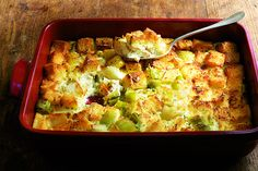 Find the recipe for Leek Bread Pudding and other leek recipes at Epicurious.com