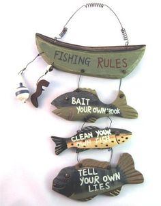 "Wood Fishing Rules Sign - Fish Boat Nautical Decor New Approximately 8"" X 14"" by OTHER, http://www.amazon.com/dp/B0006OGGW6/ref=cm_sw_r_pi_dp_QUTUqb13XTQTQ"