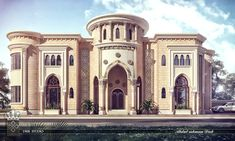 New classic villa on Behance Classic House Design, Modern House Design, Villa Design, Islamic Architecture, Architecture Design, Classical Architecture, Arabic Design, D House, Modern Mansion