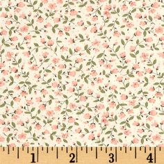 Kaufman Sevenberry Petite Fleurs Stems Coral from @fabricdotcom  From Kaufman Fabrics, this lightweight cotton shirting fabric has a crisp hand is very similar to a quilting cotton. This fabric is great for button-down shirts and dresses. It can also be used for quilting projects. Colors include cream, pink, and green.