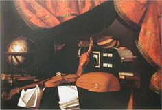 Evaristo Baschenis (Italian, 1617-1677): Still Life with Instruments, 1667-1677. -