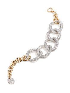 Pomellato Tango Bracelet in Rose Gold w/ Diamond Links