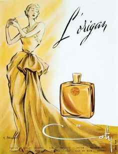 Publicité du parfum L'Origant de Francois Coty