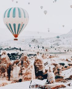 Hot air balloon festival in Cappadocia, Turkey. Wanderlust bucket list of places to travel and a visit on a vacation trip to Europe. Places Around The World, Oh The Places You'll Go, Places To Travel, Travel Destinations, Places To Visit, Around The Worlds, To Infinity And Beyond, Roadtrip, Adventure Is Out There