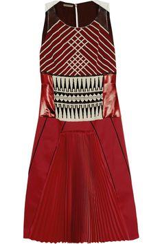 Bottega Veneta Hand-embellished pleated crepe and satin dress NET-A-PORTER.COM