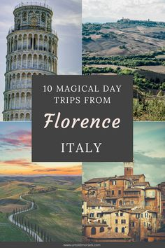 Florence Italy - add these day trips to your Florence itinerary. Visit Pisa and the leaning tower, Lucca, Siena, medieval hill top towns and the Chianti wine region. You can also reach the Cinque Terre and Milan from Florence. #italy #europe #florence #tuscany #itinerary #ravel