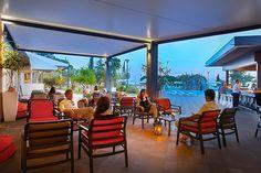 Hotel Maestral pool bar by night #lagunanovigrad #Novigrad #Istria #Croatia