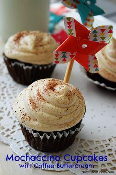 mochaccino cupcakes with coffee buttercream