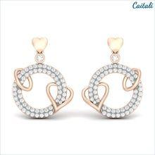 Chamun Rose Silver Stud Earring - Caitali (Sterling Silver)