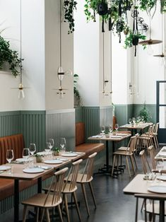 This open space is commercial design. The simple decorations show that it is a restaurant. You can tell that this space is commerical by the way the tables and chairs are placed. Restaurant wear this there: prado.