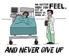 "medschool-motivation: """"No matter how you feel, get up, dress up, show up, and never give up."" - Regina Brett """