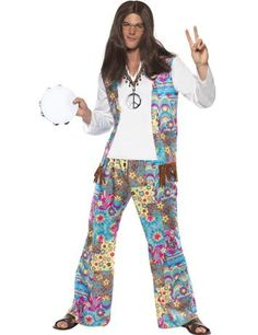 GROOVY HIPPIE COSTUME - A fantastic fancy dress costume for any 1960's themed party.