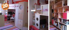 Casa Kids - loft bed over work space