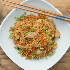 One-pot Chicken Chow Mein Recipe by Tasty