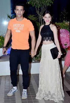 Aamir Ali and Sanjeeda Sheikh at the 'Mary Kom' success bash. #Bollywood #Fashion #Style #Beauty