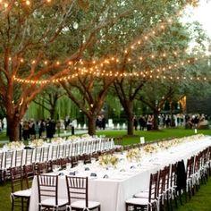 Gorgeous outdoor reception at a Dallas Sculpture Garden