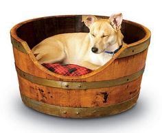 Wine Barrell pet bed!