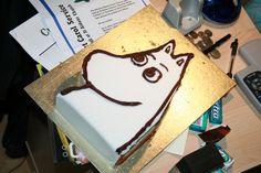 Bad Moomin Cake XD by Kiwikku on DeviantArt Little My Moomin, Chicken Pop, Homemade Crackers, Edible Cake, Sweet Cakes, Cakes And More, Food Art, Sweet Treats, Yummy Food