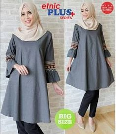 Muslim Hijab, Muslim Dress, Hijab Dress, Hijab Fashion, Fashion Dresses, Tunics, Blouses, Quilling Patterns, Hijab Chic