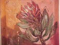 Protea - Michele Nigrini Protea Art, South African Artists, Florals, Inspire, Gallery, Creative, Artwork, Diy, Painting