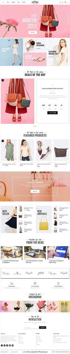 LoftStyle is clean, stylish and modern design 5in1 responsive #Magento #templates for stunning fashion #shop eCommerce website to live preview & download click on image or Visit #webdevelopment
