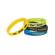 Check out Batman Rubber Bracelet Favors - Cheap Individual Decorations and Supplies from Wholesale Party Supplies