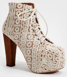 Ivory Lace Platform Lita Boots | Shop Jeffrey Campbell Lita Shoes Now | fredflare.com
