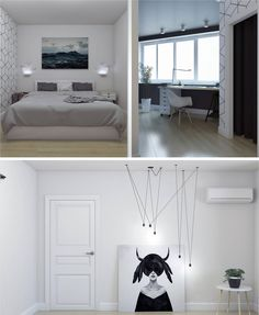 Modern Scandinavian Style Bedroom By Anna Shymanovitch Interior Design Course Student In European