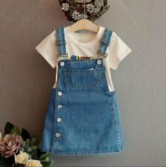 Summer Style Girls Straps dress cute denim Kids Sundress For Girl Party Dresses Child Party Birthday clothes, Party Style , Little Girl Outfits, Kids Outfits Girls, Girls Party Dress, Toddler Girl Outfits, Baby Outfits, Little Girl Dresses, Baby Dress, Girls Dresses, Party Dresses