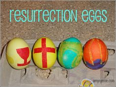would highly recommend making Resurrection Eggs! I had the idea last year to make them and they worked so well as a teaching tool and as a way to incorporate the real Easter story, that they are now a mainstay of our Easter festivities Easter Snacks, Easter Brunch, Kid Snacks, Resurrection Eggs, Teaching Religion, Easter Religious, Easter Story, Creative Kids Snacks, Coloring Easter Eggs