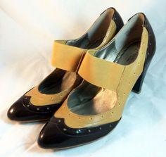 PREVIEW INTERNATIONAL Shoes ~ Butterscotch & Chocolate Spectator Pumps  ~ 8 M #Nordstoms #PumpsClassics
