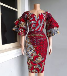 African Print dress Red Ankara Dress African Clothing African Clothing for Women African Dresses African print skirt Ankara dress İslami Erkek Modası 2020 African Fashion Ankara, Latest African Fashion Dresses, African Dresses For Women, African Print Fashion, African Attire, African Style, African Clothes, Africa Fashion, African Print Skirt