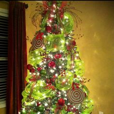 I am doing this color scheme on my tree this year :)