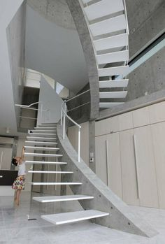 Image result for escaleras concreto armado y vidrio