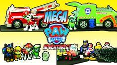 PAW PATROL MEGA ADVENTURES - Rocky Recycles Marshall's Fire Truck Skye S...