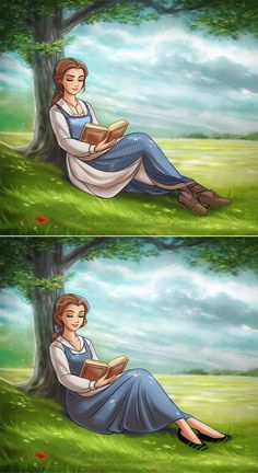 I used my illustration from the past and I've made 2 versions of Belle. I really like how very subtle redesign gave Belle another life in the movie. Which one is your fav one? Better comparison is ...