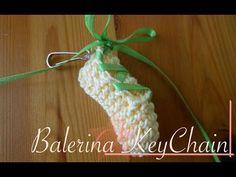 Ballerina Crochet Key Chain Charm