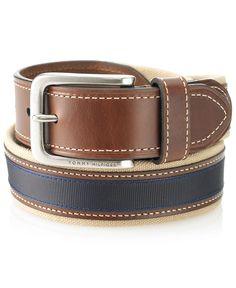 45bf666d082 Tommy Hilfiger Canvas Casual Belt Men - Belts   Suspenders - Macy s