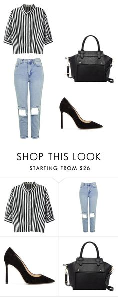 """""""Untitled #260"""" by bestylished on Polyvore featuring Relaxfeel, Topshop, Jimmy Choo and Pink Haley"""