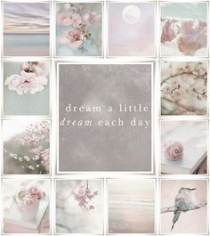 Moodboard 'dream a little dream each day. Inspiration Wand, Color Inspiration, Collages, Pot Pourri, Color Collage, Quote Collage, Mood Colors, Photo Images, Beautiful Collage