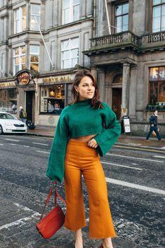 The Little Magpie Topshop Mustard Trousers Edinburgh